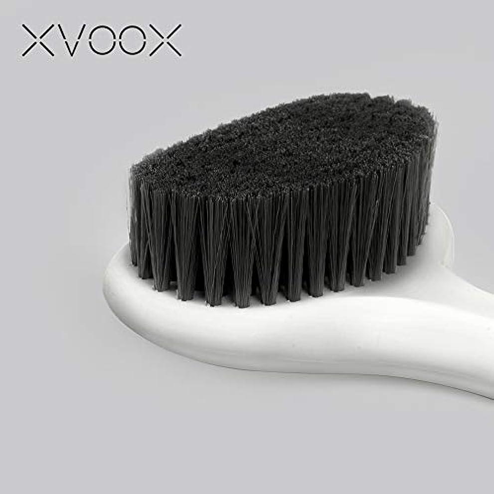 コールド遺伝的規範XVOOX あかすり ボディブラシ 体洗いブラシ 背中ニキビ お風呂用体洗い 角質除去/血行促進 バスグッズ ロング柄 (白色)