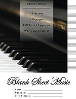 Blank Sheet Music Notebook: Wonder Piano Relaxation