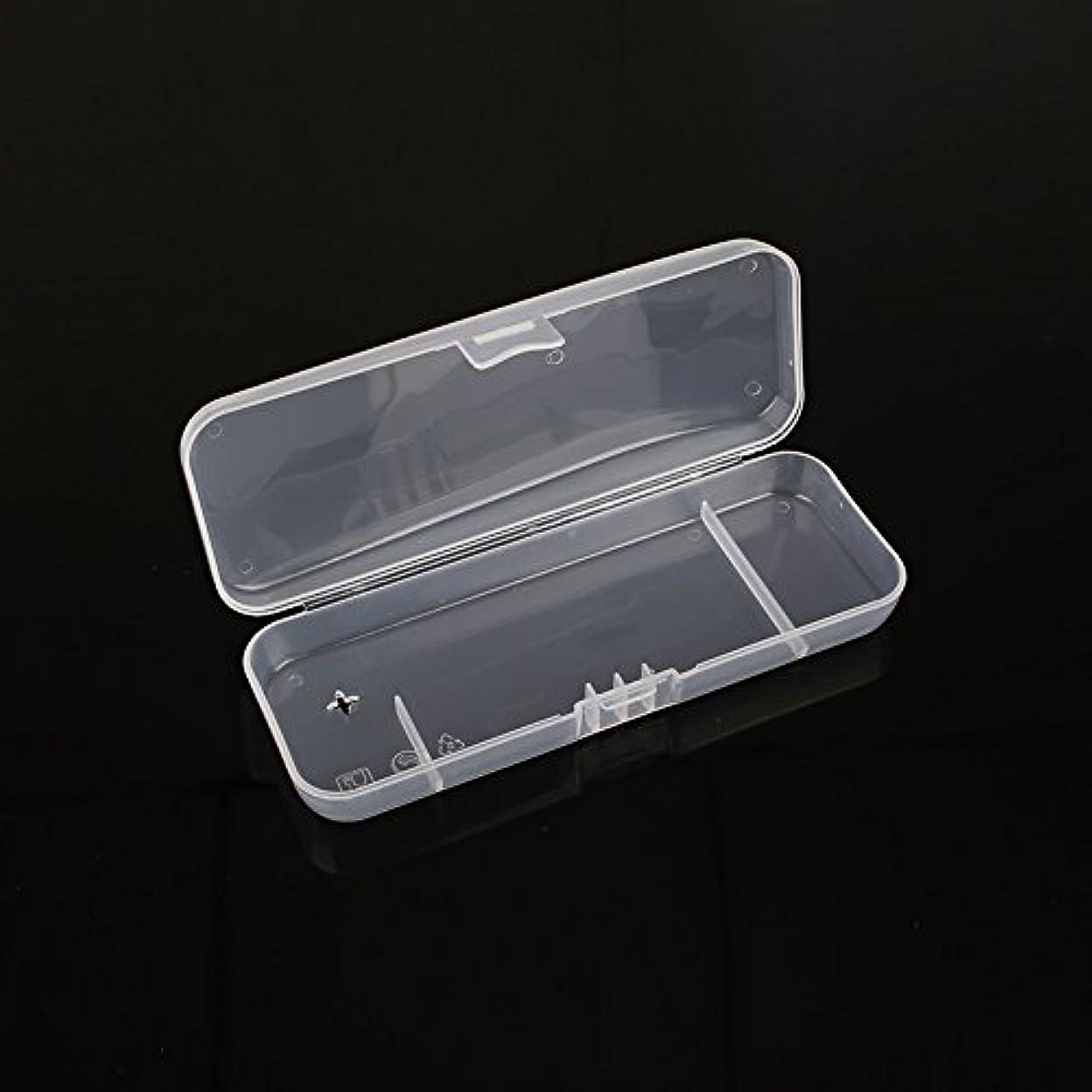 スズメバチ懐疑的操縦するキコード 白い透明 ポータブル シェービングボックス シェーバー用 トラベルレジャープロテクター