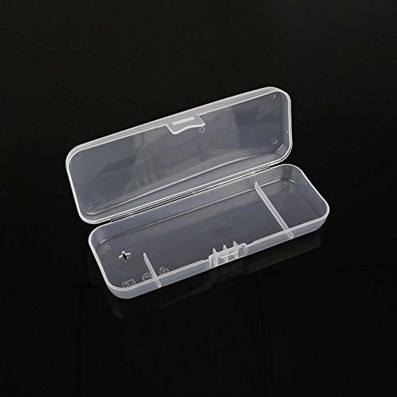 触覚社員触覚キコード 白い透明 ポータブル シェービングボックス シェーバー用 トラベルレジャープロテクター