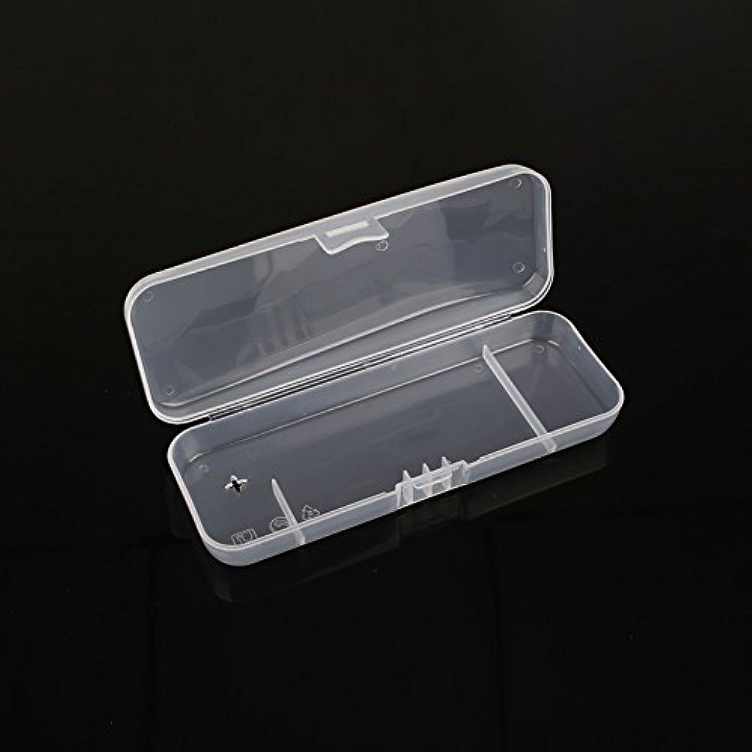 苦積極的に短くするキコード 白い透明 ポータブル シェービングボックス シェーバー用 トラベルレジャープロテクター