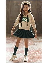 7d09245018807 DUTTO 女の子 ワンピース ガールズ ミニワンピース トップス 重ね着 レイヤード キッズ 子供 服 プリーツスカート パーカー
