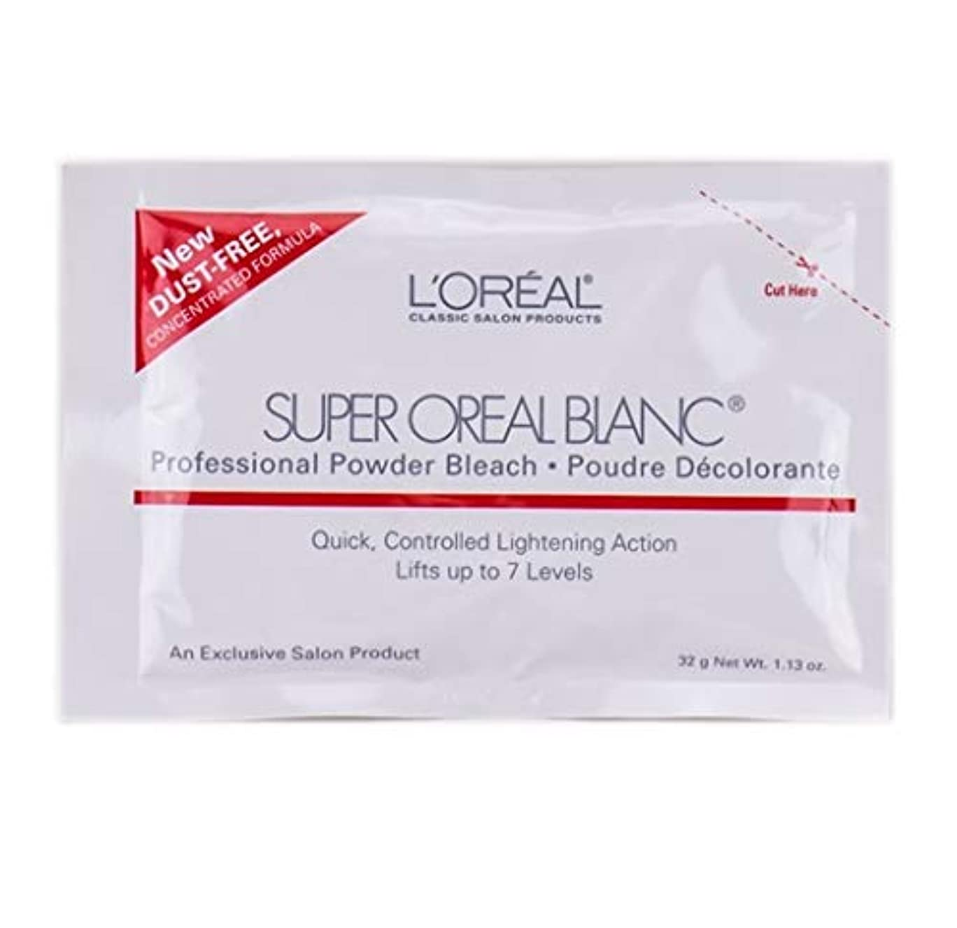 中古音声学偽物L'Oreal Super Oreal Blanc - Powder Bleach Packette - 1.13oz / 32g