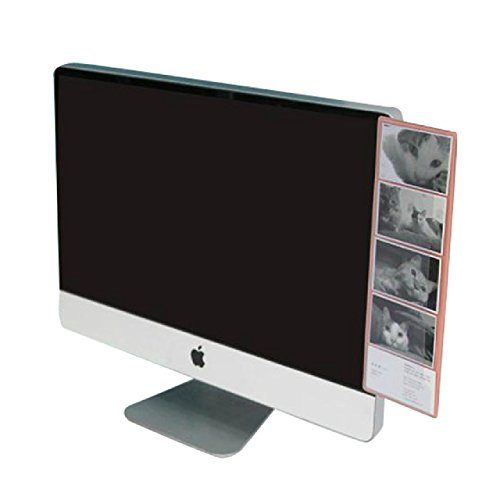 ( UN ANANAS ) パソコン モニター メモ ボード オフィス 整理 パソコン 文房具 便利 伝言(ピンク)