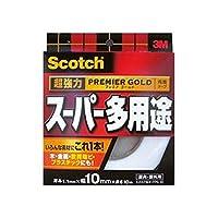 ==まとめ== スコッチ・超強力両面テープ・プレミアゴールド・==スーパー多用途== 10mm×10m・10巻