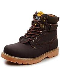 InitialG【イニシャルジー】メンズ靴 本革 レザーシューズ マーティンシューズ マーティンブーツ アウトドア ハイカット ワークシューズ 大きいサイズ 008-ccmy-10068 (24.5, ダークブラウン)