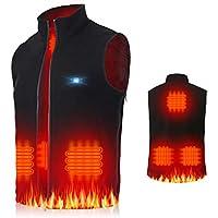 Jkevow Electric Heated Vest for Men Washable Size Adjustable USB
