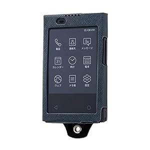 カードケータイ KY-01L オープンレザーケース スリム/ブラックブラック【ICカードポケット付き】【ネックストラップ対応】