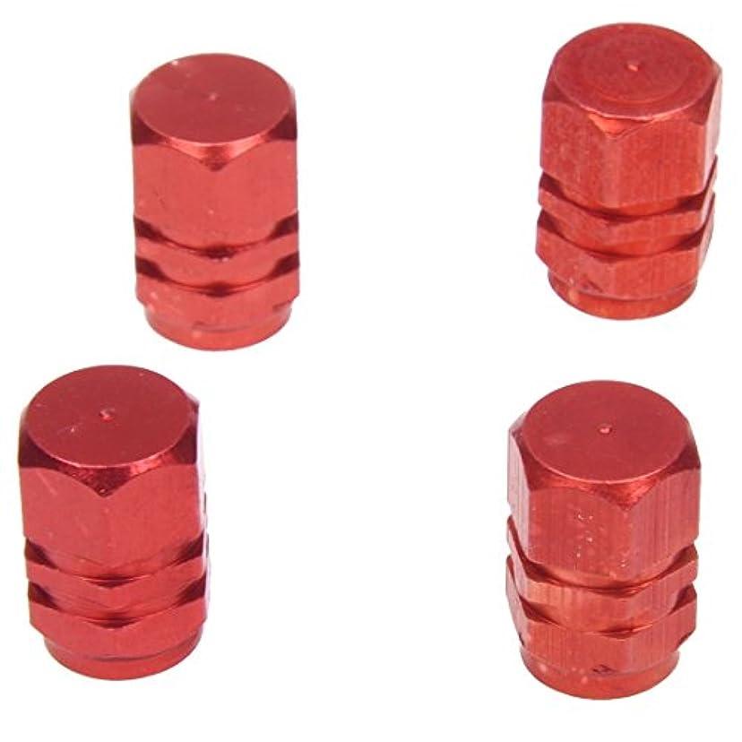 置き場スロベニア教義TOOGOO レッドタイヤエアーバルブキャップ 全てのシュレッダーバルブに適合 (パックに4個)