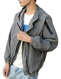 Sodossny-JP メンズレインフロントジッププラスポケットフード付きポケットフードジャケット
