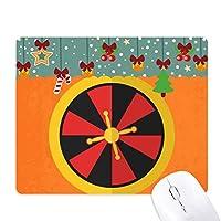 カジノのターンテーブルの要素のイラスト ゲーム用スライドゴムのマウスパッドクリスマス