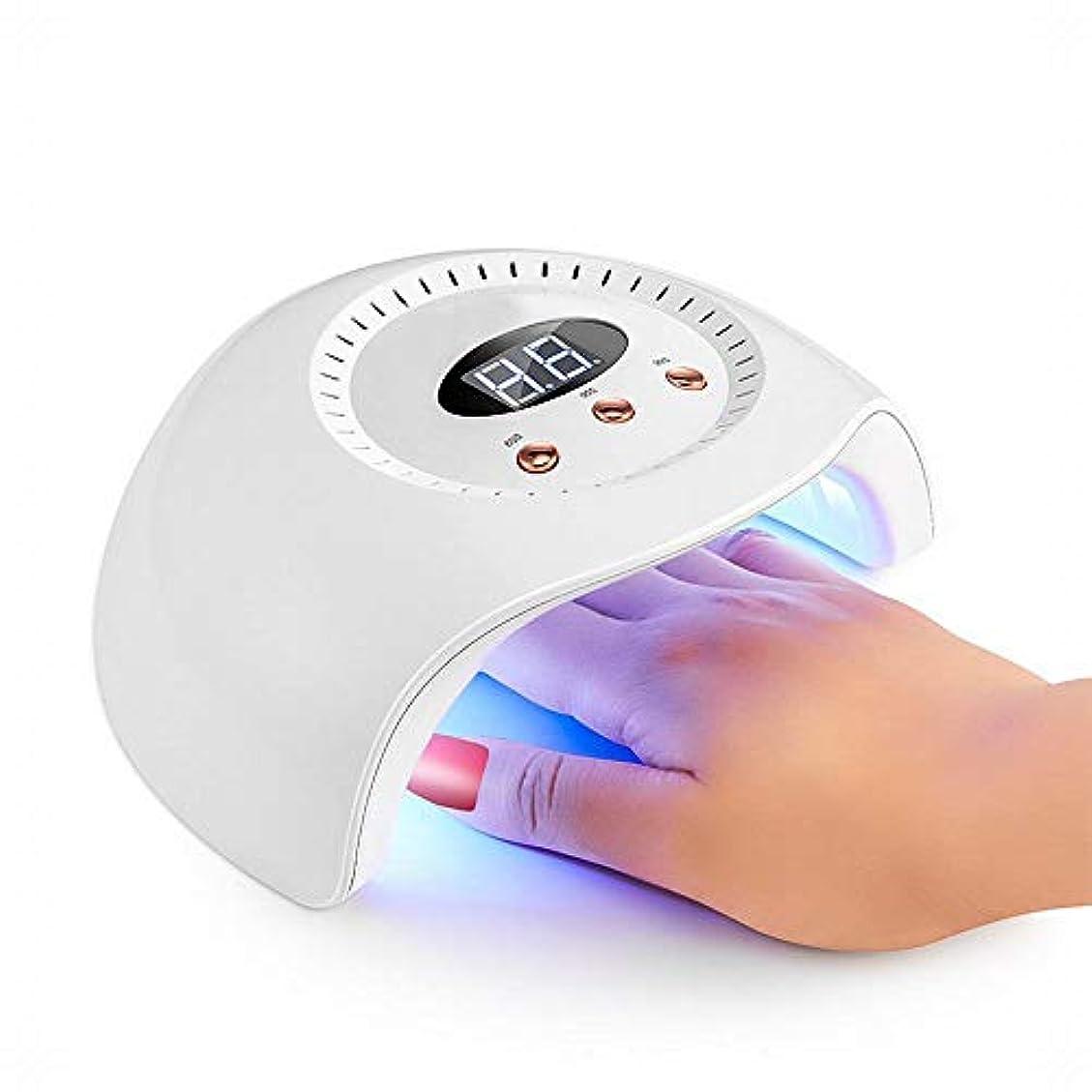YESONEEP ネイルランプ24ワットネイル光線療法ランプインテリジェント誘導ネイル機デュアル光源led光線療法ランプネイルスマート乾燥 (Size : 24W)