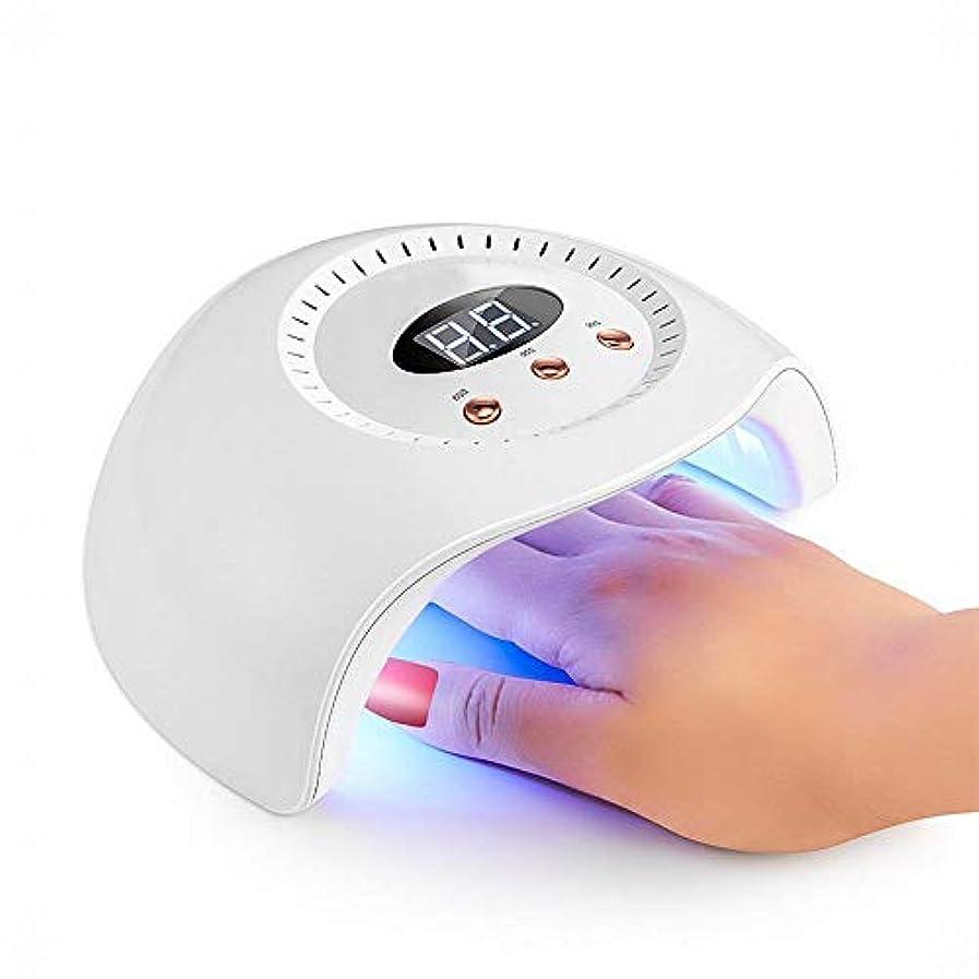 立方体フォーク航空YESONEEP ネイルランプ24ワットネイル光線療法ランプインテリジェント誘導ネイル機デュアル光源led光線療法ランプネイルスマート乾燥 (Size : 24W)