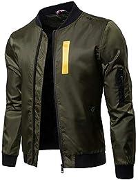 maweisong メンズ冬ウォームロングスリーブ厚キルトパフショートボンバージャケット