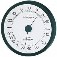 (まとめ) EMPEX 温度?湿度計 エクシード 温度?湿度計 壁掛用 TM-2302 ブラック【×3