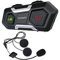 suaoki インカム バイク 3riders Bluetooth インターコム クリアな音質 長距離通信 連続12時間通話 技適マーク認証済み 防水 音楽 GPS FMラジオなど 日本語取扱説明書 12ヶ月保証 T10S