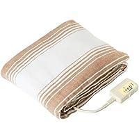 LIFEJOY 洗える 電気毛布 掛け敷き兼用 188cm×130cm ブラウン BK552