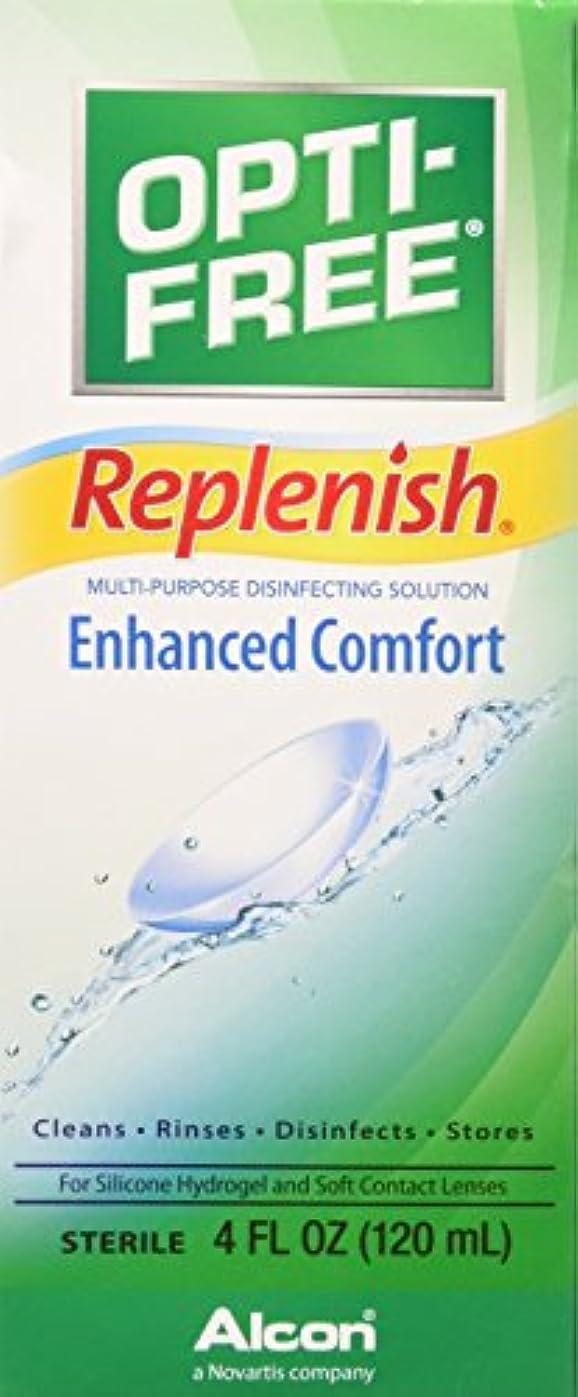 地元小説懲戒Opti-Free replenish solution for contact lenses - 4 oz (並行輸入品)