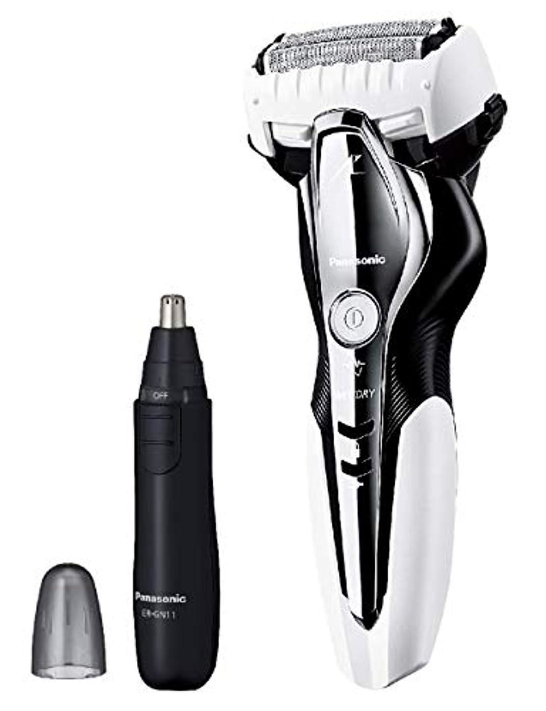 実験風邪をひくマントルパナソニック ラムダッシュ メンズシェーバー 3枚刃 お風呂剃り可 白 ES-ST2Q-W + エチケットカッターER-GN11-K セット