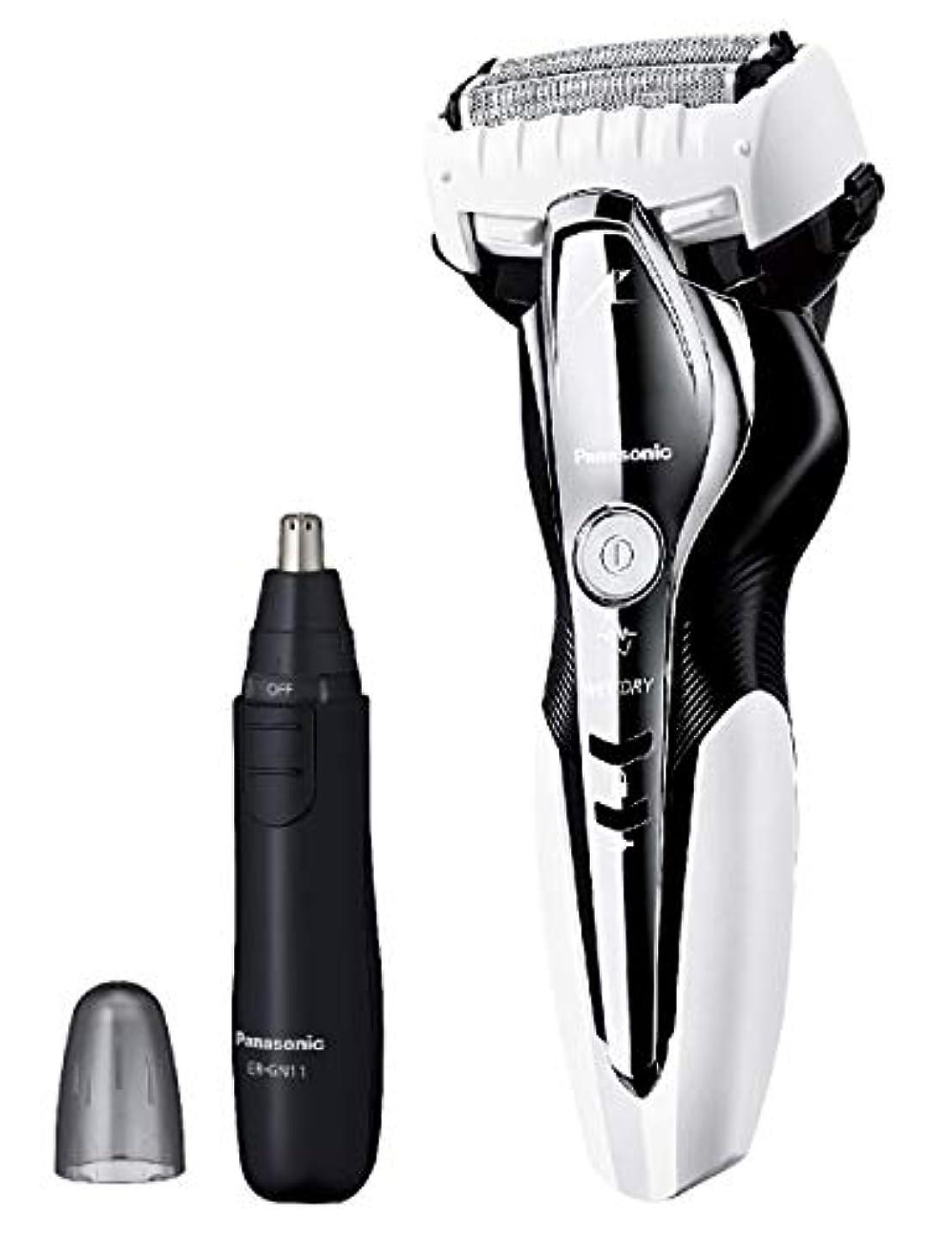 置くためにパック新しさロータリーパナソニック ラムダッシュ メンズシェーバー 3枚刃 お風呂剃り可 白 ES-ST2Q-W + エチケットカッターER-GN11-K セット