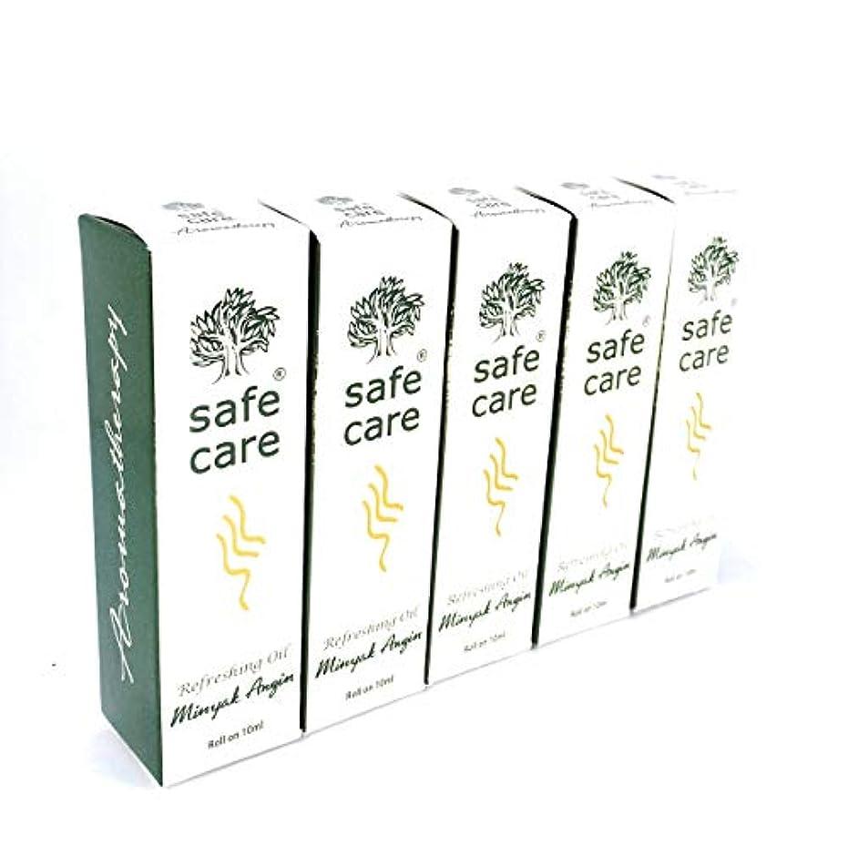 教室磁気コンドームSafe Care セイフケア Aromatherapy Refreshing Oil アロマテラピー リフレッシュオイル ロールオン 10ml × 5本セット [並行輸入品][海外直送品]