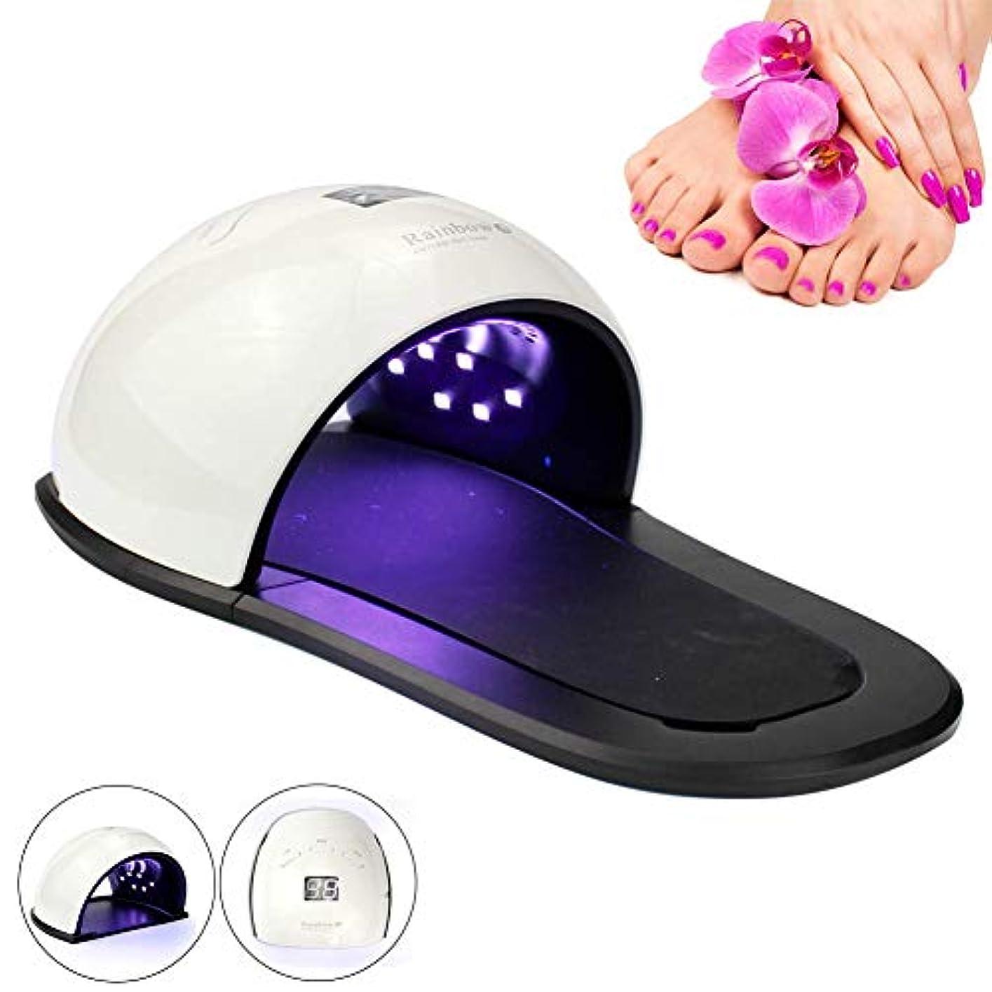 メドレー傷跡もっともらしい48W UVネイルジェルLEDランプ(ハンド&フット用)プロフェッショナルネイルドライヤー(硬化用)指の爪の爪用LEDランプポーランドマニキュアネイルツール