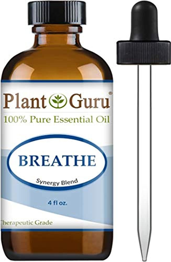 書く受粉する朝Breathe Synergy Blend Essential Oil. 4 oz. (118 Ml.) 100% Pure, Undiluted, Therapeutic Grade. (Eucalyptus, Peppermint...
