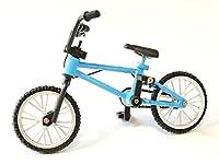 BMX フィギュア ミニ バイク ミニチュア 自転車模型 ブルー