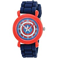 MARVEL Boys Avenger Analog-Quartz Watch with Nylon Strap, Blue, 20 (Model: WMA000234