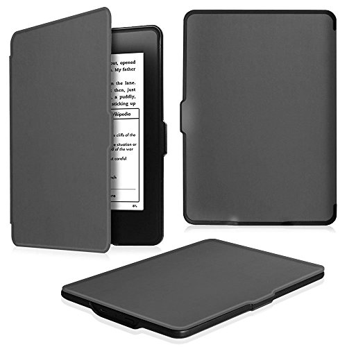 Fintie for Kindle Paperwhite ケース 超薄 軽量 保護カバー オートスリープ機能付き (Kindle Paperwhite 第5世代、第6世代、第7世代、マンガモデル 専用)【Kindle Paperwhite Newモデル 第10世代 2018に適応できない】(スペースグレー)