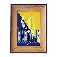 ボスニアヘルツェゴビナの旗の名前 フォトフレーム、デスクトップ、木製