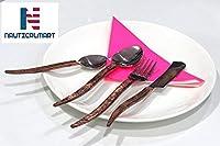 Copper Spoon Fork Knife Wedding Hotel Restaurant Cutlery Set Of 4