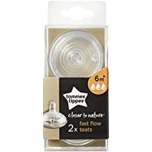TOMMEE TIPPEE Fast Flow Teats (2-Pack), Clear