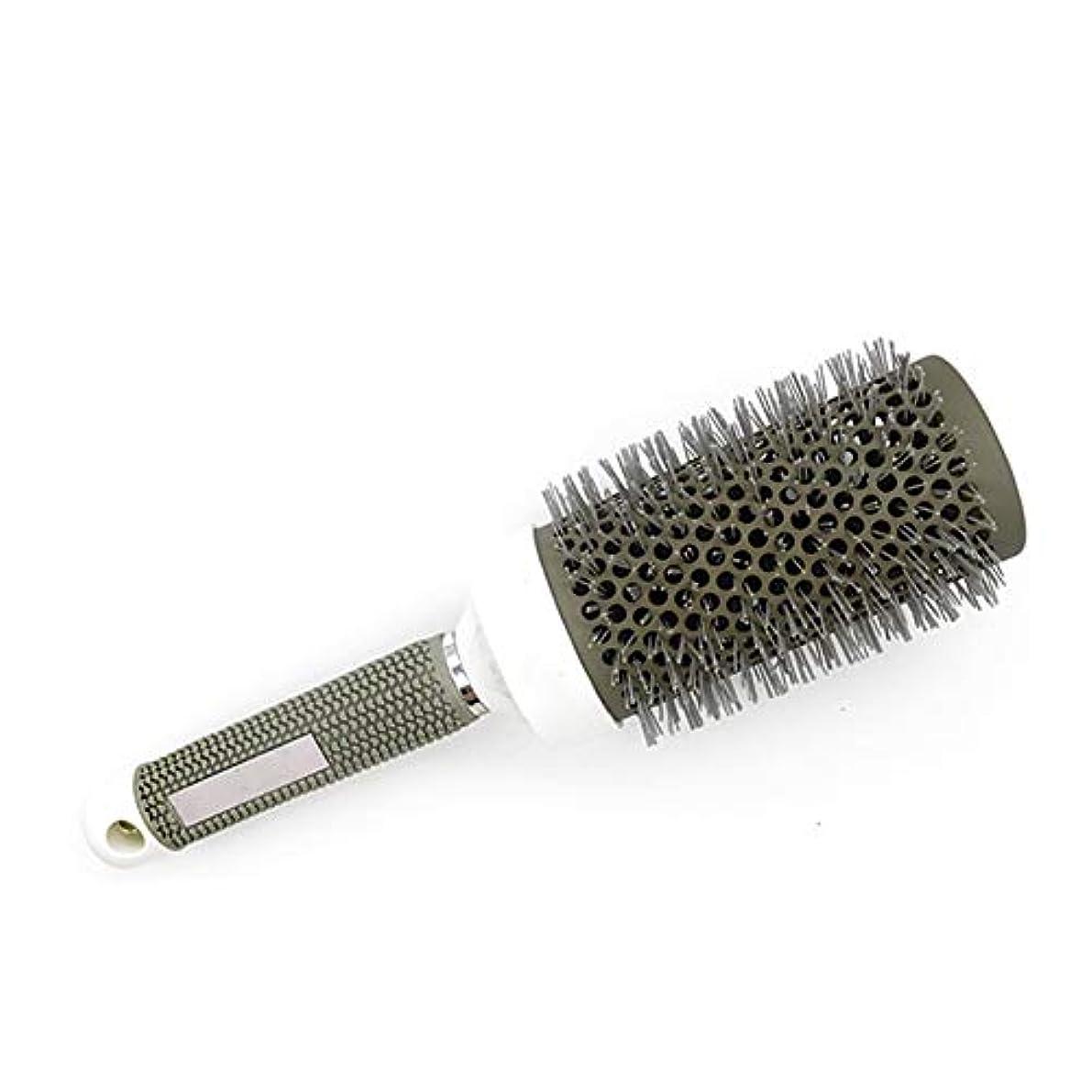チェリー曲線悪化させる丸いブラシ毛の櫛セラミック円筒アルミニウムローラーチューブ53ミリメートル美容ヘアドライヤー