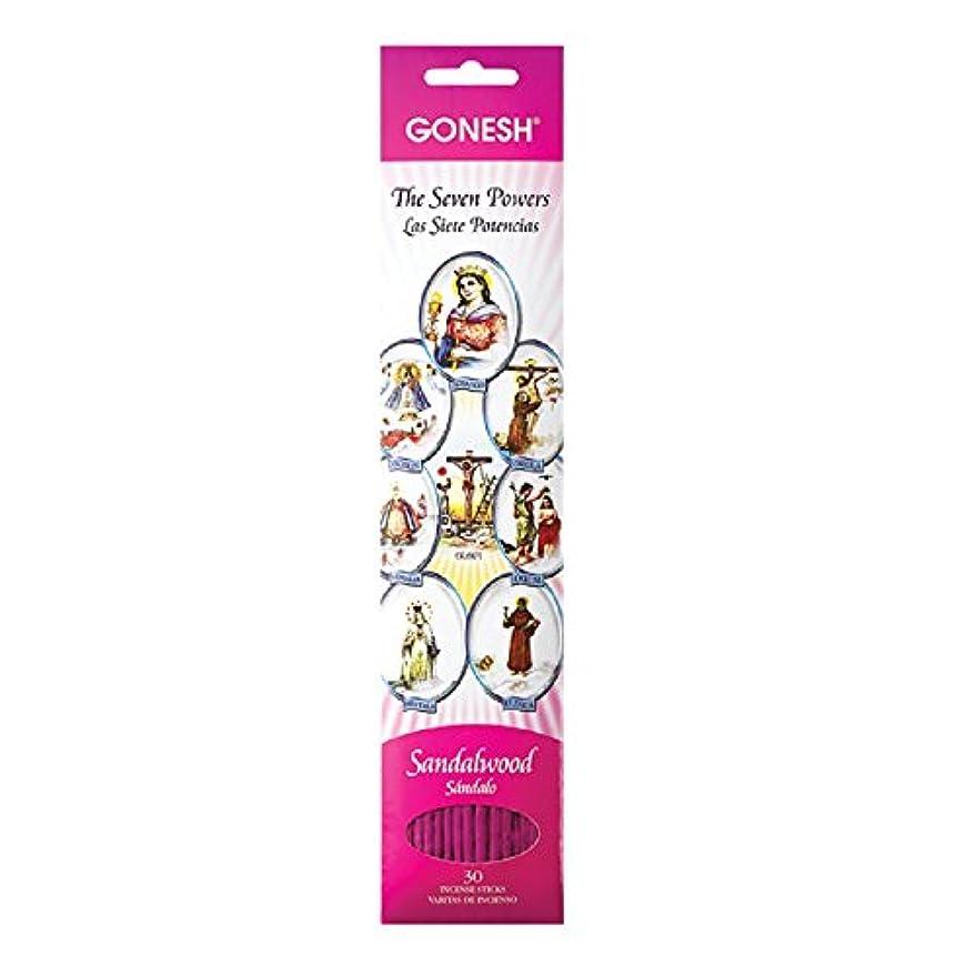 明示的に配管アーカイブGonesh Sticks Collection お香 守護聖人 7つのアフリカの力、30ピース