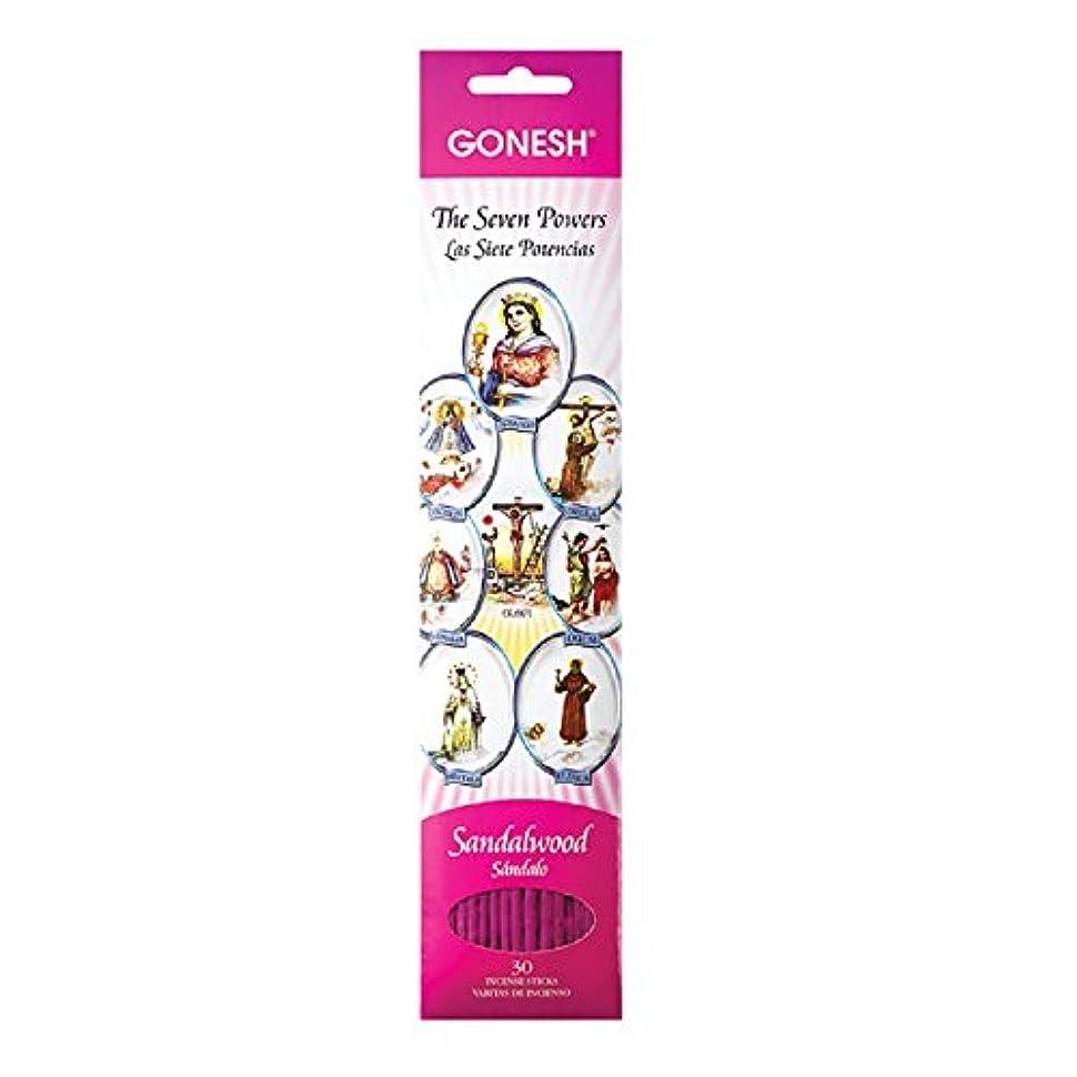 鉛筆サスペンション圧縮するGonesh Sticks Collection お香 守護聖人 7つのアフリカの力、30ピース