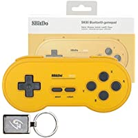 Mcbazel 8Bitdo SN30 GP Yellow Edition イエロー版BluetoothゲームパッドワイヤレスコントローラWindows Android MacOS Steam Nintendo Switch用 (Gam3Gear キーホルダー付き) [並行輸入品]