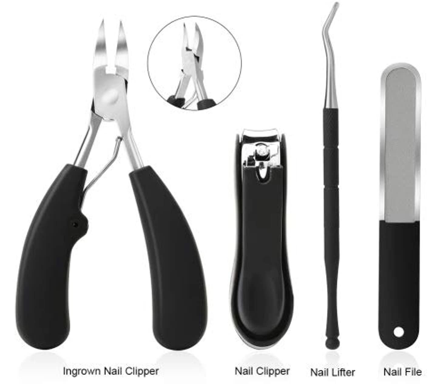後継敏感な幻影Izmirli - ANLAN Nail Cuticle Pusher Clipper Scissor Nipper Tweezer Picker Stainless Steel Manicure DIY Nail Art...