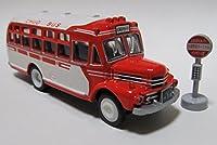タルガ 限定 タッカー 昭和おもひでバス 第二弾 北海道中央バス 1/110 いすゞBX131型・バス停付き 精密ダイキャストモデル ミニカー