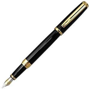 (ウォーターマン) WATERMAN エクセプション アイディアル ブラック GT 万年筆 (ペン先 F 細字) S2223122 黒