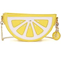 Haolong Women Lemon and Watermalon Versatile Pu Leather Clutch Purse Cross Body Bag
