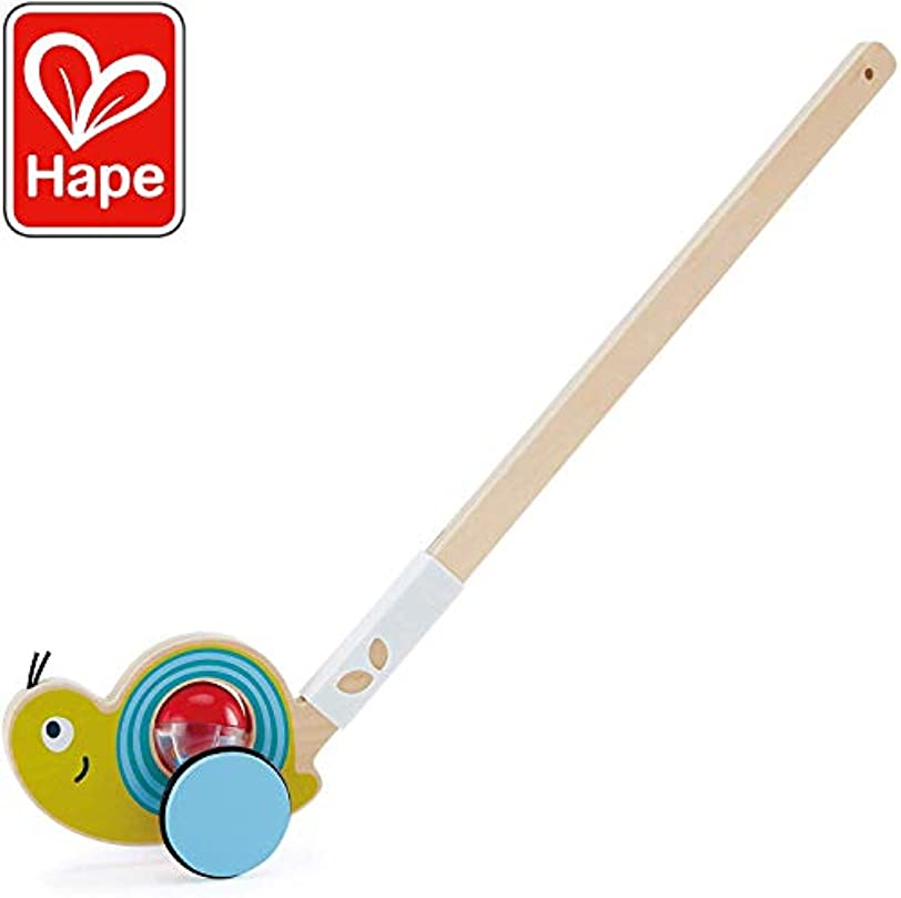 ささやきターゲット献身Hape Snail Push Pal | Wooden Push Along Ball Rattle, Baby Walker Push Toy for Children 12 Months and Up [並行輸入品]