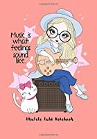 Ukulele Tabs Notebook: Composition and Songwriting Ukulele Music Song with Chord Boxes and Lyric Lines Tab Blank Notebook Manuscript Paper Journal Workbook Sheet for Beginners or Musician with Girl Play Guitar Theme