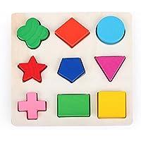 Sohapy Wooden Preschool Shape Puzzle Shape Sorter