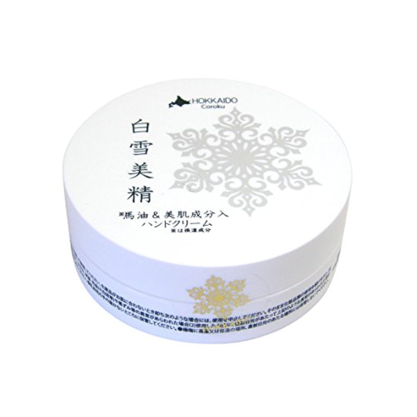 固体自由ホットCoroku 白雪美精 ハンドクリーム 30g
