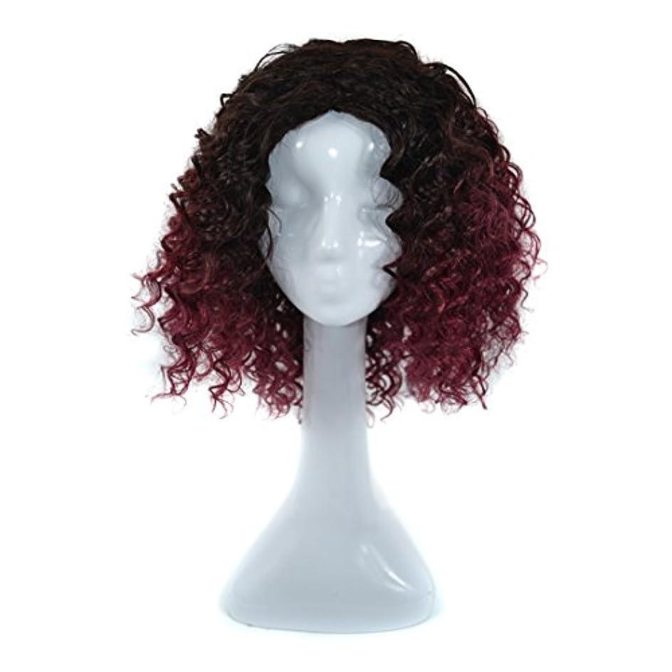 高さふけるアミューズJIANFU 300グラムリアルフルウィッグ女性のためのヨーロピアンとアメリカンブラックDEEPスモールボリュームカーリーウィッグリアルな自然な人間の髪のために中傷と合成のデイリーウィッグ (Color : Black...