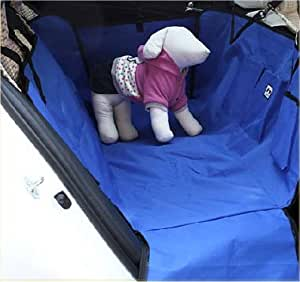 防水 ドライブシート BOXタイプ 犬【ブルー】ペットの抜け毛やおしっこから車のシートをガード