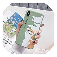 iPhone 7 XS MAX 11 Pro XR X 8 6 6s Plus用の素敵なコーギー犬電話ケースキャンディーカラーマットソフトシリコンバックカバーシェル、iPhone XS MAX用、スタイル1