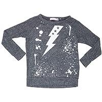 PLAY SIX Little Girls Lightning Bolt Graphic Print Lightweight Sweater