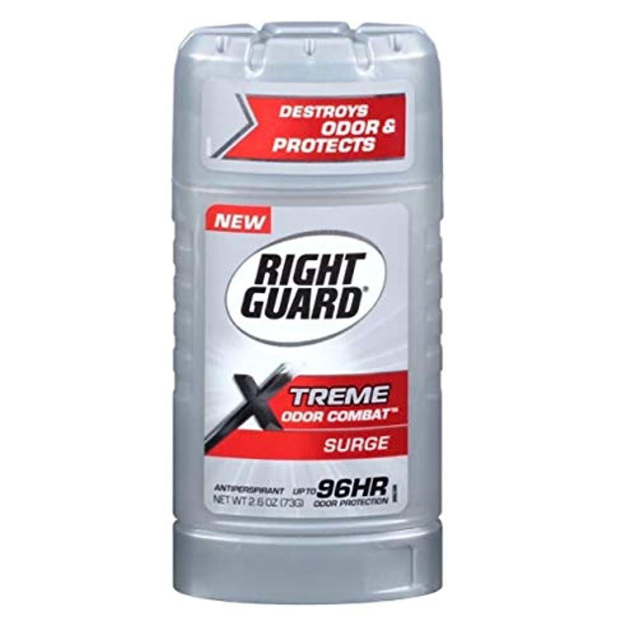 可決副自慢Right Guard Xtreme Odor Combat Surge Invisible Solid Antiperspirant and Deodorant - 2.6oz 海外直送品 [並行輸入品]